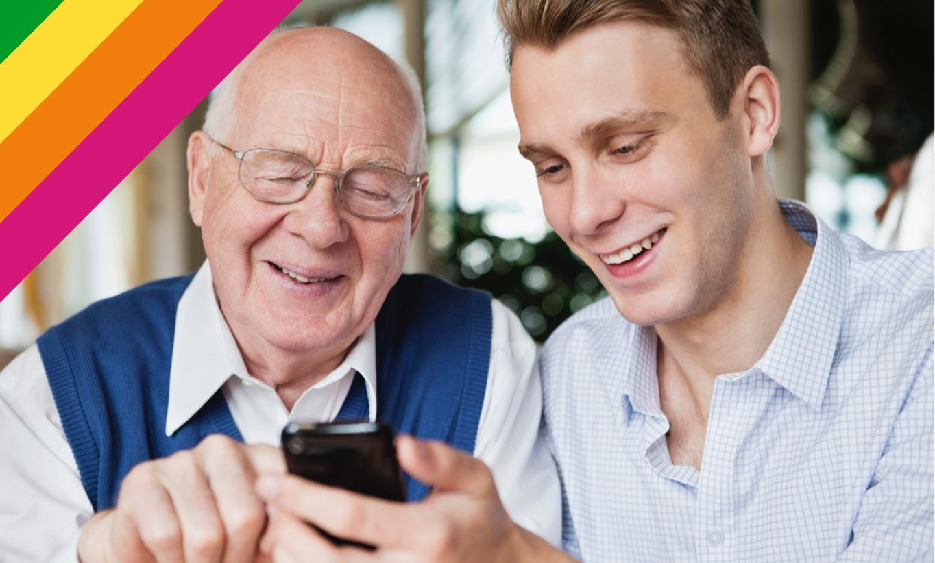 App für Senioren treffen wir Studentinnen