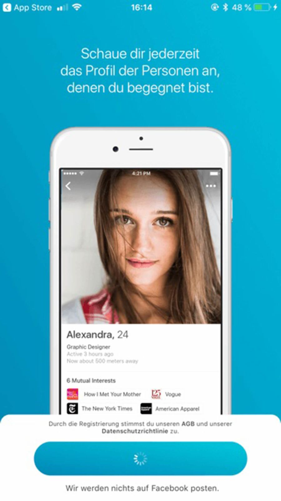 Dating-Website happn kommen Abbinden