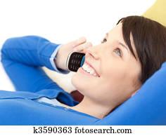 Einsame Frau Telefon Foto 100 Erfahrung